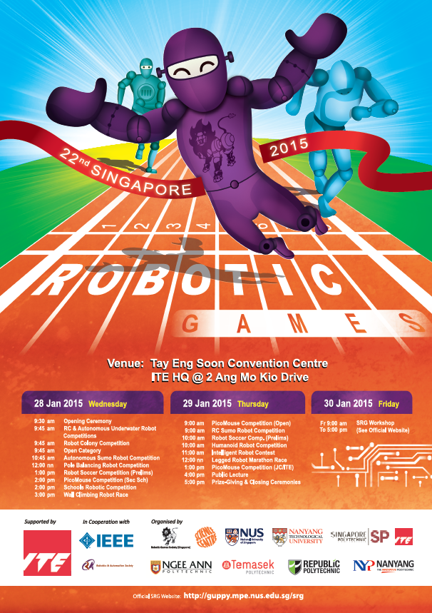 Singapore Robotic Games and other Science Centre programmes (Jan-Feb 2015)
